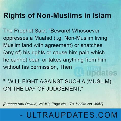 rights of non-muslims in islam | Islamic quotes, Beautiful